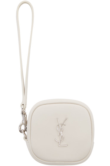 Saint Laurent - Off-White Monogram Coin Pouch