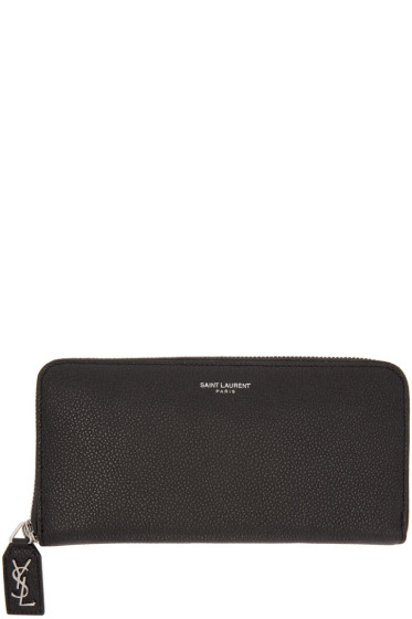 Saint Laurent - Black Leather Rive Gauche Wallet