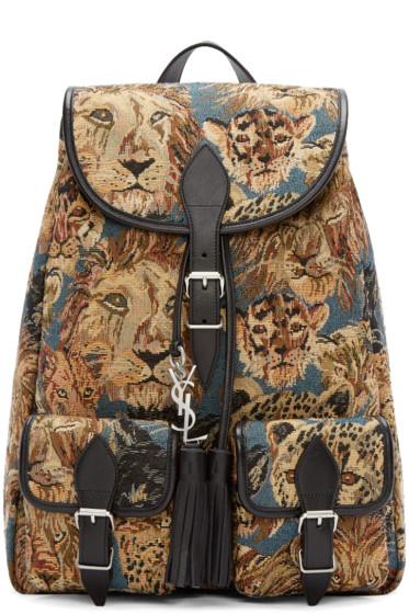 Saint Laurent - Multicolor Tapisserie Festival Backpack