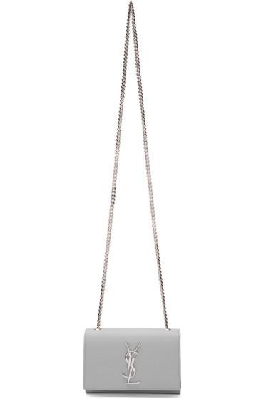 Saint Laurent - Grey Small Monogram Chain Bag