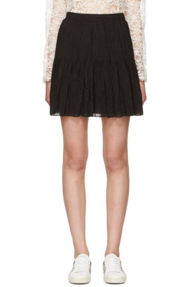 Saint Laurent - Black Tiered Skirt