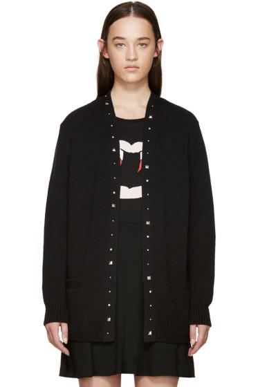 Saint Laurent - Black Studded Cardigan