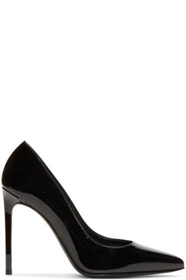 Saint Laurent - Black Leather Paris Skinny Pumps