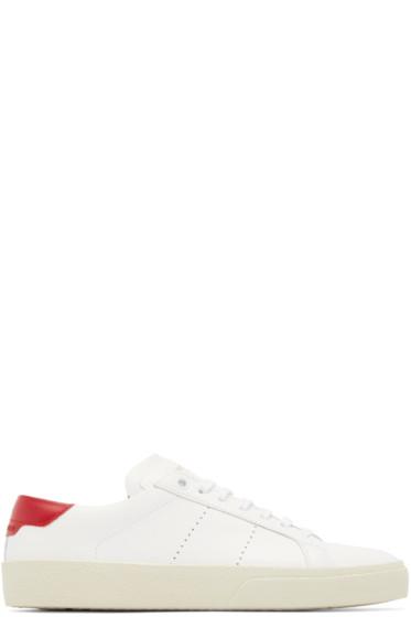 Saint Laurent - White Court Classic Sneakers