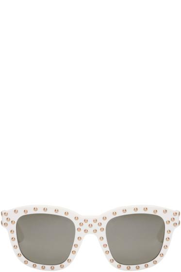 Saint Laurent - White SL 100 Lou Surf Sunglasses