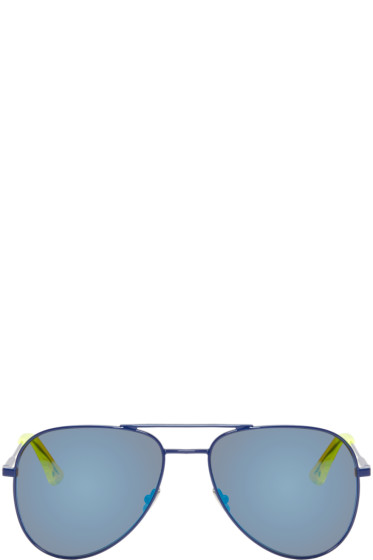 Saint Laurent - Navy SL Classic 11 Surf Aviator Sunglasses