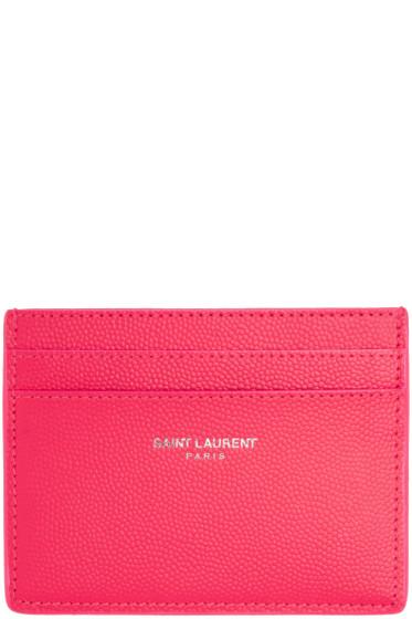 Saint Laurent - Pink Neon Card Holder