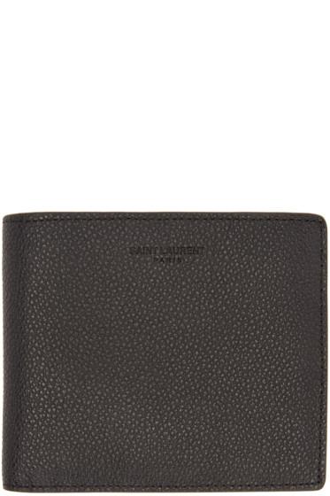 Saint Laurent - Black Grained Leather East/West Wallet