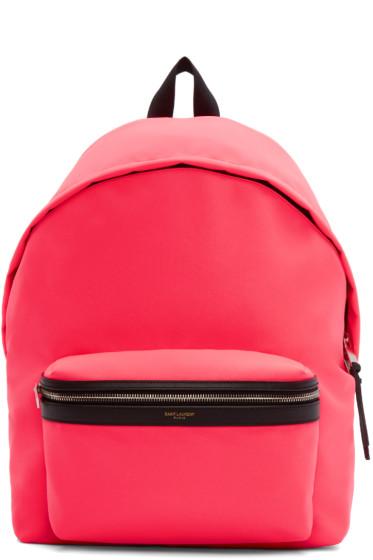Saint Laurent - Pink Canvas Hunting Backpack