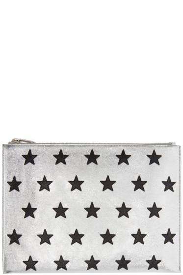 Saint Laurent - Silver Star Zip Pouch