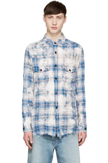 Saint Laurent - Multicolor Bleached Check Shirt