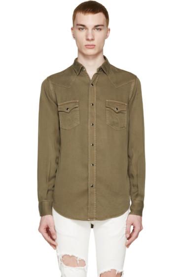 Saint Laurent - Khaki Western Shirt