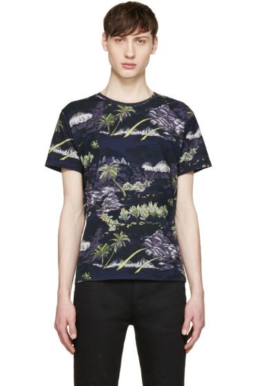 Saint Laurent - Black Landscape Print T-Shirt