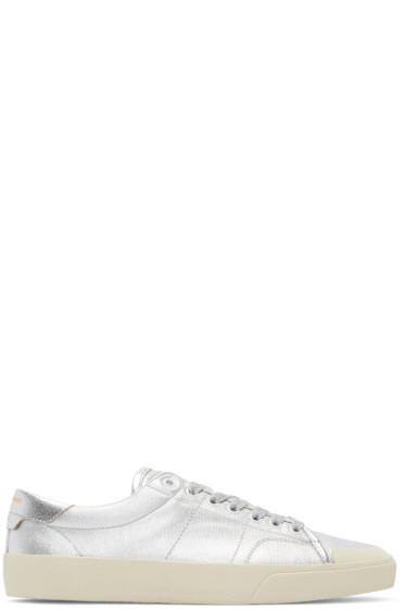Saint Laurent - Silver Metallic Court Classic Sneakers