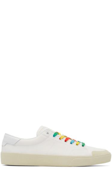 Saint Laurent - White Rainbow Court Classic Sneakers