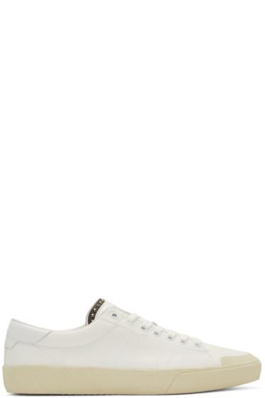 Saint Laurent - White Court Classic Low-Top Sneakers