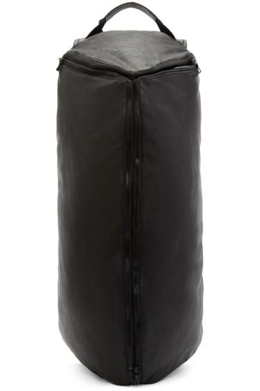 Julius - Black Leather Asymmetric Backpack