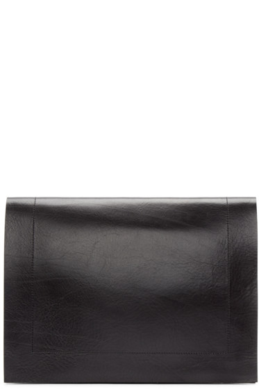 Julius - Black Leather Document Holder