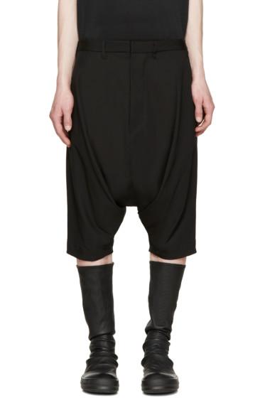 Julius - Black Woven Sarouel Shorts
