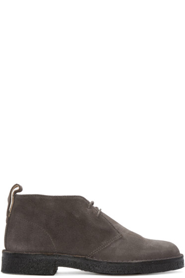 PS by Paul Smith - Grey Suede Sleater Desert Boots