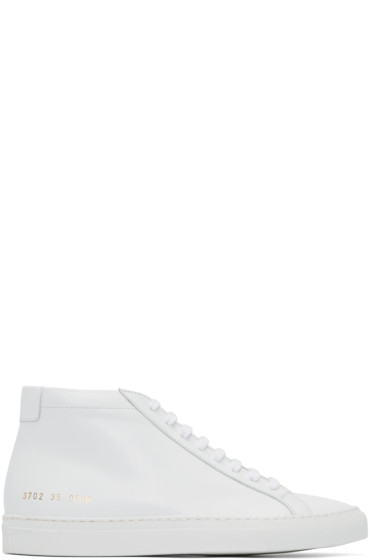 Woman by Common Projects - White Original Achilles Mid-Top Sneakers