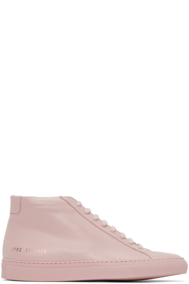 Woman by Common Projects - Pink Original Achilles Mid-Top Sneakers