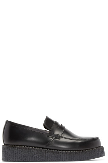 Underground - Black Leather Whitworth Loafers