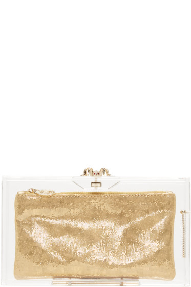 Charlotte Olympia - Clear Perspex Pandora Clutch