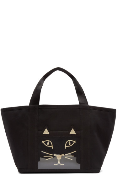 Charlotte Olympia - Black Ami Kitty Tote Bag