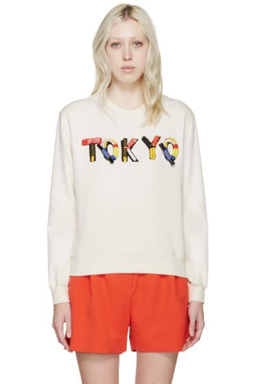MSGM - Cream Embellished Tokyo Pullover