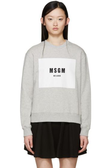 MSGM - Grey Milano Logo Sweatshirt