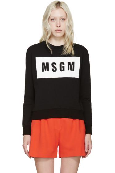 MSGM - Black Glossy Logo Pullover