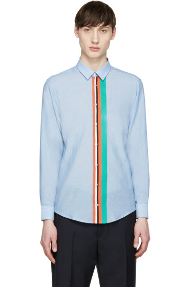 MSGM - Blue Stripe Front Shirt