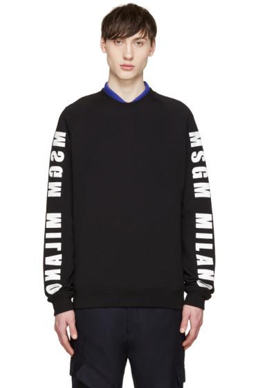 MSGM - Black Logo Sleeve Sweatshirt