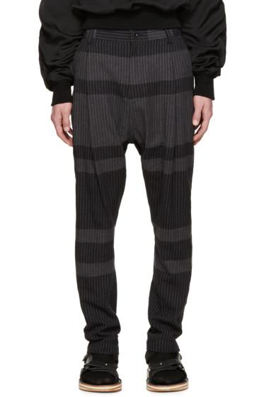 Sacai - Grey Striped Trousers