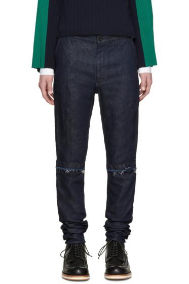 Sacai - Blue Denim Trousers