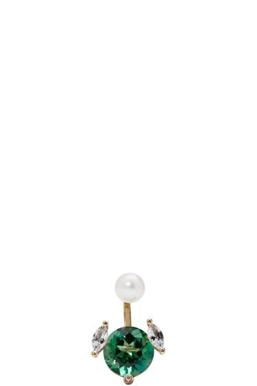 Delfina Delettrez - Gold Magic Puppy Earring