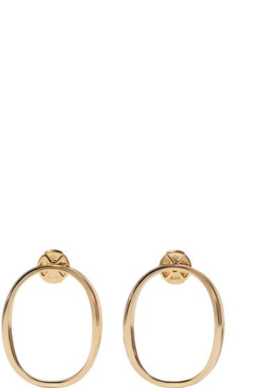 Delfina Delettrez - Gold Little Ear-Clipse Earrings