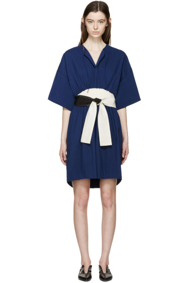 Cédric Charlier - Navy & Cream Tie Dress