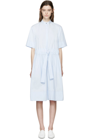 Cédric Charlier - Blue Poplin Drawstring Dress