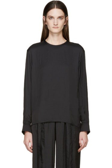 Cédric Charlier - Black Satin Blouse