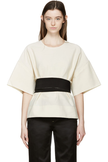 Cédric Charlier - Cream & Black Tie Blouse