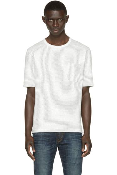 Nanamica - White Dotted Stripe T-Shirt
