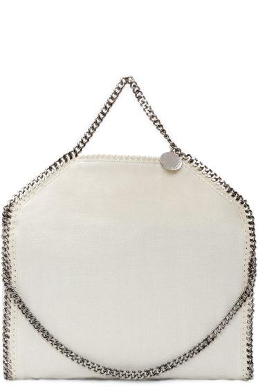 Stella McCartney - White Linen Falabella Chain Tote