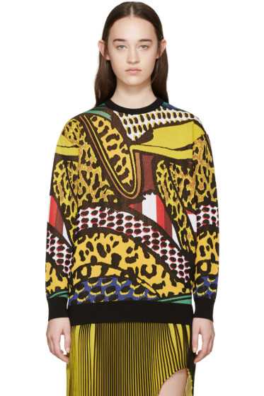 Stella McCartney - Multicolor Brush Stroke Sweater