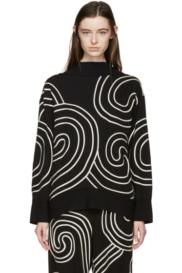 Stella McCartney - Black Swirl Ribbon Sweater