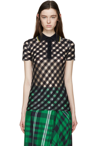 Stella McCartney - Navy Transparent Check Polo
