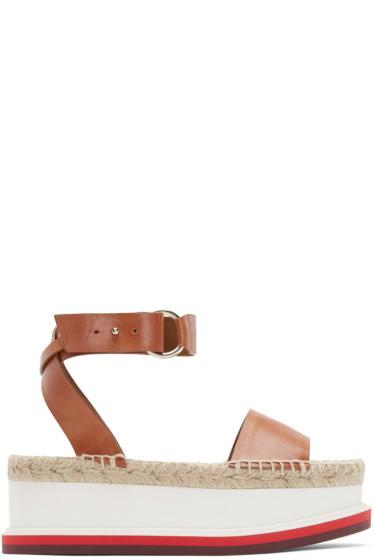 Stella McCartney - Tan Platform Sandals