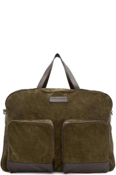 Umit Benan - Green & Brown Suede Weekend Bag