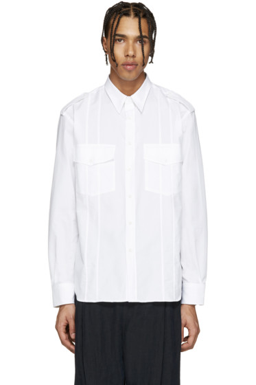 Umit Benan - White Cuban Military Shirt